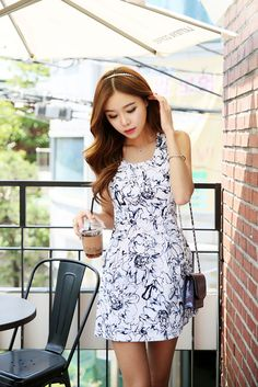 Flower Line Dress