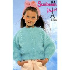Childrens cardigan knitting pattern for Mohair yarn Sunbeam patterns 1211 Listing in the Baby & Children,Patterns-Contemporary,Knitting & Crochet,Needlework,Crafts, Handmade & Sewing Category on eBid United Kingdom | 156343259