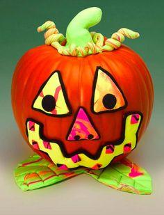 We love this easy DIY spooky pumpkin craft.