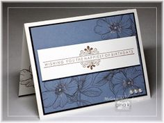 Stately Flowers 7 and one of July's gorgeous free Incentive stamp greetings, must have! Hands, Head and Heart