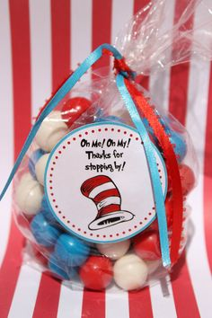 Dr Seuss Baby Shower Birthday Party Sticker, Favor Tags via Etsy