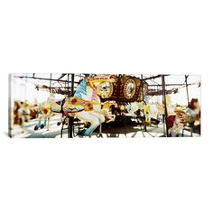 """East Urban Home Panoramic Coney Island, Brooklyn, New York City Photographic Print on Canvas Size: 30"""" H x 90"""" W x 1.5"""" D"""