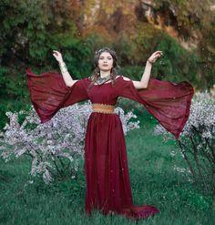 Ancient Greek dress medieval fantasy dress  by LuckyLotDress