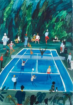 It's Nice That   Kirsten Sims' characters weave busy narratives in colourful landscapes