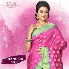 Exclusive designer silk sarees online collection with high quality handwork and prints available at Adi Mohini Mohan Kanjilal. Get extremely gorgeous collections of designer silk saree according to the style and fashion. Chanderi Silk Saree, Designer Silk Sarees, Silk Sarees Online, Online Collections, Wedding Season, Sari, Pink, How To Wear, Crafts