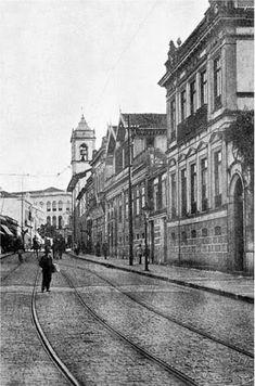 Rua Florêncio de Abreu em direção ao Largo São Bento Ano: década de 1900