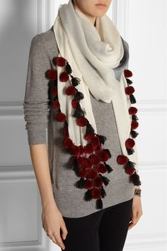 BY MALENE BIRGER Embellished wool scarf €185.00 http://www.net-a-porter.com/products/529253