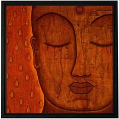ArtWall Gloria Rothrock's Awakened Mind, Gallery-Wrapped Floater-Framed Canvas, Size: 24 x 24, Brown