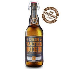 UNSER ORIGINAL VATERBIER IN DER 2 LITER BÜGELFLASCHE happy father's Day + father beer + vatertag + geschenk geburt + geschenk vater + vaterbier