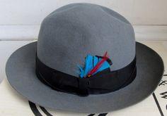 Vintage BORSALINO Mens Torino FEDORA Hat 7 in orig by Flashbax, $95.00
