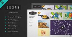 Download and review of Bookcase - Wordpress Portfolio Theme, one of the best Themeforest Creatives themes