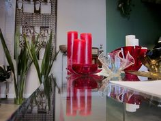 Candles and glass handmade