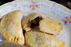 Empanadas of the Immaculate Conception - Cream cheese pastry with Picadillo filling! from Pati's Mexican Table Mexican Kitchens, Mexican Dishes, Mexican Food Recipes, Mexican Cooking, Patis Mexican Table, Tapas, Almond Chicken, Sweet Dough, Gastronomia
