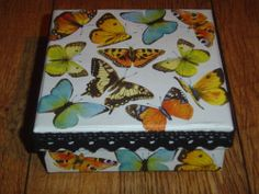 Decorative Trinket Jewellery Memory Box Decoupage Butterflies 2 | eBay