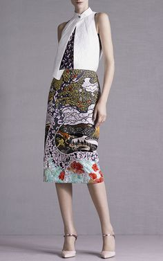 Winding River Embroidered Skirt by Mary Katrantzou for Preorder on Moda Operandi