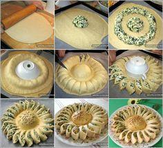 une tarte épinards ricotta en fleur - les trésors de sophie du placard une tarte épinards ricotta en fleur voici la recette pour réaliser une tarte en forme de fleur.  300 grammes d'épinards frais ou congelés,bien séchés dans la poêle  250 grammes de ricotta  50 grammes de parmesan  1 oeuf  sel poivre  ma touche gourmande:  1 a 2 grosses cuillères a soupe de mascarpone  des dés de jambon  mélange d'épices italien  2 rouleaux de pate brisée  mélangez tout les ingrédients dans un saladier…