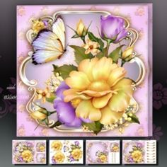 Summer Roses Card Mini Kit on Craftsuprint - View Now!