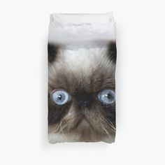 "Cat Duvet Covers for Girls | Persian Cat"" Duvet Covers by Erika Kaisersot 