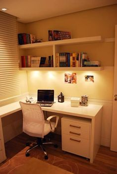 Great Home Decor Tips And Strategies For home office design styles Small Home Offices, Home Office Space, Home Office Design, Home Office Decor, Study Room Decor, Cute Room Decor, Small Room Bedroom, Bedroom Decor, Pinterest Home
