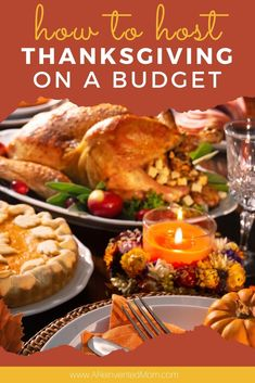 Do you love Thanksgiving dinner but worry about the cost? Check out my simple tips to host Thanksgiving when you're tight on funds - how to plan the meal without blowing your budget, how to handle the drinks question and even how to find budget Thanksgiving decorations! Fall Crockpot Recipes, Fall Soup Recipes, Fall Dessert Recipes, Delicious Recipes, Appetizer Recipes, Yummy Food, Thanksgiving Food Crafts, Thanksgiving Potluck, Hosting Thanksgiving