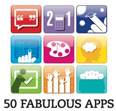 """""""There's an app for that.""""   Scholastic Teachers shared 50 must-have apps that…"""