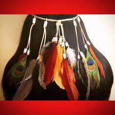 Fire goddess silver and earth tone adjustable by enchantedheadwear