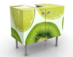#Waschbeckenunterschrank - Lime #Badschrank #Limette #Früchte #fruit #fruits #Frucht #love #fruchtshake #Obst #sweet #süß #Früchtchen #Wandgestaltung #Wandeko #Deko