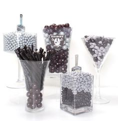 Candy Galaxy is an online candy store that specializes in candy buffets and bulk candy Raiders Stuff, Raiders Girl, Candy Table, Candy Buffet, Raiders Wedding, Online Candy Store, Oakland Raiders Football, Birthday Party Themes, Birthday Ideas