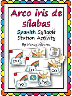 Spanish: Rainbow Theme Syllable Combining Station  from Teaching With Nancy  on TeachersNotebook.com (20 pages) $