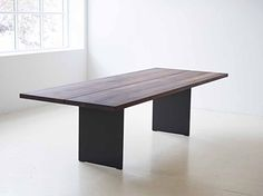 TABLE Walnut table by design Jacob Plejdrup Tree Coffee Table, Tree Table, Table Furniture, Home Furniture, Furniture Design, Walnut Timber, Plank Table, Indoor String Lights, Walnut Table