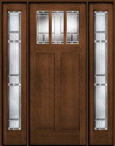 Therma-Tru Classic Craft American Door and Two Sidelites (Homeward)
