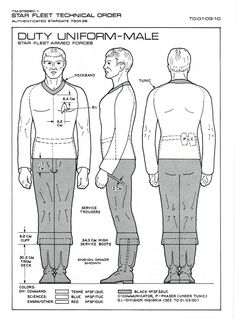 Duty Uniform - Male: Star Fleet Armed Forces