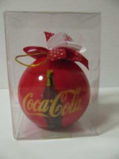 Bright Red Coca Cola Christmas Ornament