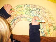 Cute idea: word family rainbows (from First Grade Wow: daily 5)  Pinned from PinTo for iPad 