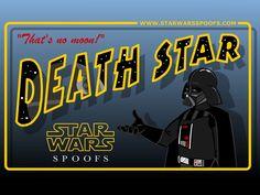 Death Star Postcard - Star Wars Spoofs.com