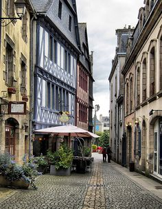 Quimper, old town streets