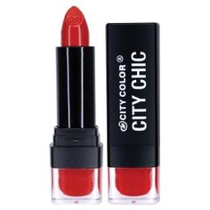 Be Matte Lipstick is every girl's must-have secret! Rich with pigmentation and a matte finish, these lipsticks are touched with Vitamin E to nourish your lips and provide long-lasting color. In 36 stunning shades, you will want to collect them all! Best Red Lipstick, Matte Lipstick, Red Lipsticks, Makeup Gift Sets, Lip Stain, City Chic, Lady In Red, Makeup Looks, Make Up