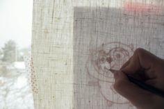 embroidering kids' drawings - brilliant idea over at muita ihania:nain sen teen