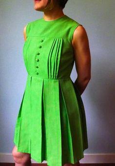 lime green pleats