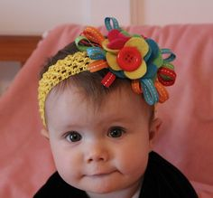cute as a button headband