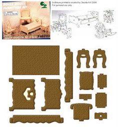 Mobília de papel para recortar e construir - Atividades Educativas