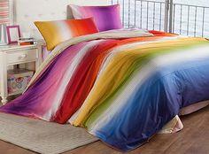 Regenbogen-Bettwäsche für Mädchen-Foto - 3