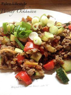 Mexicaanse Gehaktschotel - Paleo (Gemaakt in ovenschotel, laagje gehakt mengsel klein laagje gegaarde quinoa en weer laagje mengsel. Getopte met laagje tomaten en in de oven)