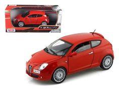 METALLIC RED ALFA ROMEO MITO DIECAST CAR DEALER SPECIAL NOREV 1//43 CLASSIC