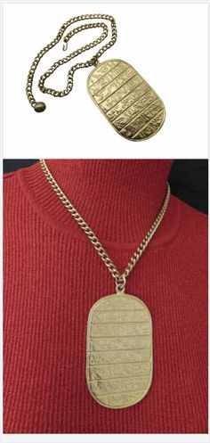 Ancient hieroglyphics tell tales of Kings and Queens but complete the story behind this lovely dog tag pendant necklace with secret scrolls of beautiful accessories. #stuff4uand4u