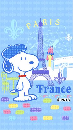 Snoopy in Paris.