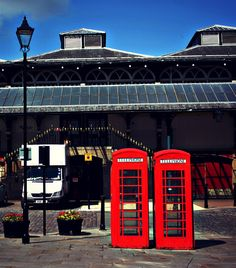 Darlington Indoor Market and red phonebox