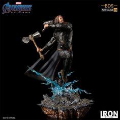 Iron Studios' Endgame Thor Statue Wields Mjolnir and Stormbreaker Thor, The Original Avengers, Custom Action Figures, Sideshow Collectibles, Chris Hemsworth, Studio S, Geek Culture, Marvel Universe, Marvel Comics