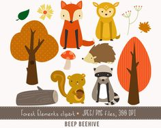 Hey, I found this really awesome Etsy listing at https://www.etsy.com/listing/194099483/forest-clipart-woodland-creatures-forest