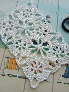 Our goal is to keep old friends, ex-classmates, neighbors and colleagues in touch. Crochet Baby Dress Pattern, Crochet Bedspread, Crochet Square Patterns, Crochet Stitches Patterns, Crochet Squares, Crochet Motif, Crochet Doilies, Knit Crochet, Baby Dress Patterns